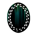 Lines Light Shadow Vertical Aurora Ornament (Oval Filigree) Front