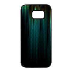 Lines Light Shadow Vertical Aurora Samsung Galaxy S7 Edge Black Seamless Case by Mariart