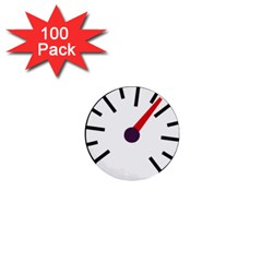 Maker Measurer Hours Time Speedometer 1  Mini Buttons (100 Pack)  by Mariart