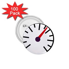 Maker Measurer Hours Time Speedometer 1 75  Buttons (100 Pack)