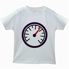 Maker Measurer Hours Time Speedometer Kids White T Shirts by Mariart