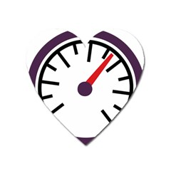 Maker Measurer Hours Time Speedometer Heart Magnet by Mariart
