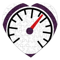 Maker Measurer Hours Time Speedometer Jigsaw Puzzle (heart) by Mariart