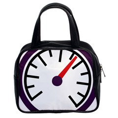 Maker Measurer Hours Time Speedometer Classic Handbags (2 Sides) by Mariart