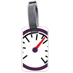 Maker Measurer Hours Time Speedometer Luggage Tags (one Side)  by Mariart