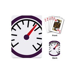 Maker Measurer Hours Time Speedometer Playing Cards (mini)  by Mariart