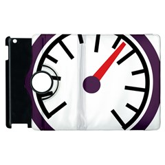 Maker Measurer Hours Time Speedometer Apple Ipad 3/4 Flip 360 Case by Mariart