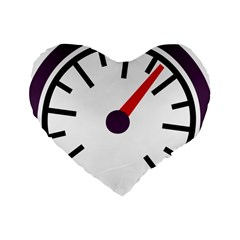 Maker Measurer Hours Time Speedometer Standard 16  Premium Heart Shape Cushions by Mariart