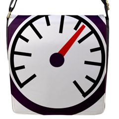 Maker Measurer Hours Time Speedometer Flap Messenger Bag (s) by Mariart