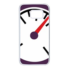 Maker Measurer Hours Time Speedometer Samsung Galaxy S7 White Seamless Case by Mariart