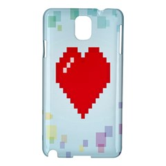 Red Heart Love Plaid Red Blue Samsung Galaxy Note 3 N9005 Hardshell Case by Mariart