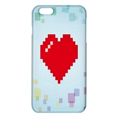 Red Heart Love Plaid Red Blue Iphone 6 Plus/6s Plus Tpu Case by Mariart