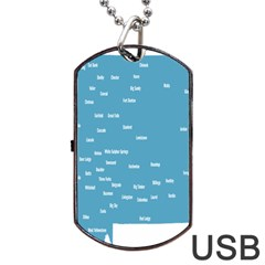 Peta Anggota City Blue Eropa Dog Tag Usb Flash (two Sides) by Mariart
