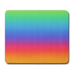 Plaid Rainbow Retina Green Purple Red Yellow Large Mousepads by Mariart