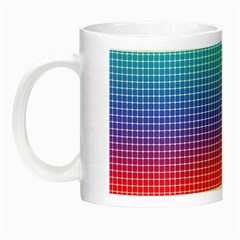 Plaid Rainbow Retina Green Purple Red Yellow Night Luminous Mugs by Mariart