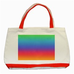 Plaid Rainbow Retina Green Purple Red Yellow Classic Tote Bag (red) by Mariart