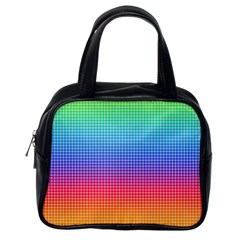 Plaid Rainbow Retina Green Purple Red Yellow Classic Handbags (one Side) by Mariart