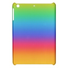 Plaid Rainbow Retina Green Purple Red Yellow Apple Ipad Mini Hardshell Case by Mariart