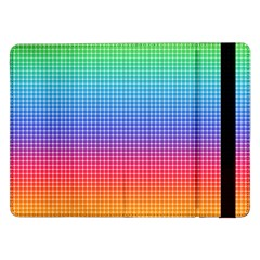 Plaid Rainbow Retina Green Purple Red Yellow Samsung Galaxy Tab Pro 12 2  Flip Case by Mariart