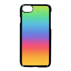 Plaid Rainbow Retina Green Purple Red Yellow Apple Iphone 7 Seamless Case (black) by Mariart