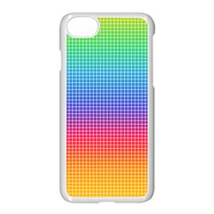Plaid Rainbow Retina Green Purple Red Yellow Apple Iphone 7 Seamless Case (white) by Mariart