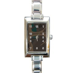 Tree Jungle Brown Green Rectangle Italian Charm Watch by Mariart