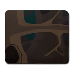 Tree Jungle Brown Green Large Mousepads by Mariart