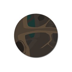 Tree Jungle Brown Green Magnet 3  (round) by Mariart