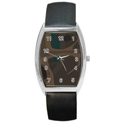 Tree Jungle Brown Green Barrel Style Metal Watch by Mariart