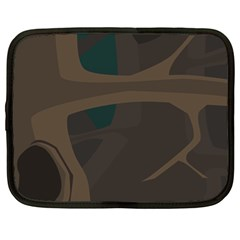 Tree Jungle Brown Green Netbook Case (large)