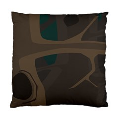 Tree Jungle Brown Green Standard Cushion Case (one Side) by Mariart