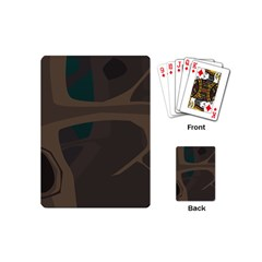 Tree Jungle Brown Green Playing Cards (mini)  by Mariart