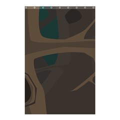 Tree Jungle Brown Green Shower Curtain 48  X 72  (small)  by Mariart