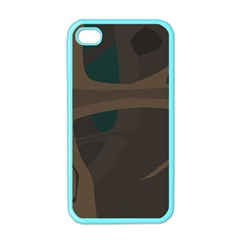Tree Jungle Brown Green Apple Iphone 4 Case (color) by Mariart