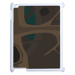 Tree Jungle Brown Green Apple Ipad 2 Case (white) by Mariart