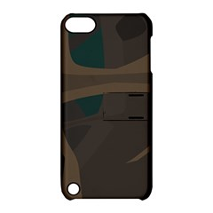 Tree Jungle Brown Green Apple Ipod Touch 5 Hardshell Case With Stand by Mariart