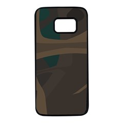 Tree Jungle Brown Green Samsung Galaxy S7 Black Seamless Case