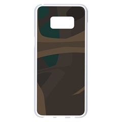 Tree Jungle Brown Green Samsung Galaxy S8 Plus White Seamless Case by Mariart
