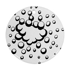 Splash Bubble Black White Polka Circle Ornament (round) by Mariart