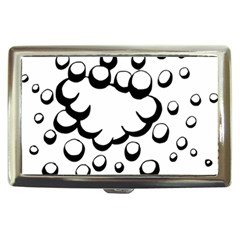 Splash Bubble Black White Polka Circle Cigarette Money Cases by Mariart