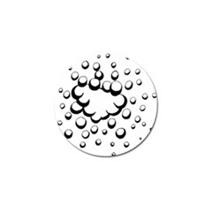 Splash Bubble Black White Polka Circle Golf Ball Marker (10 Pack) by Mariart