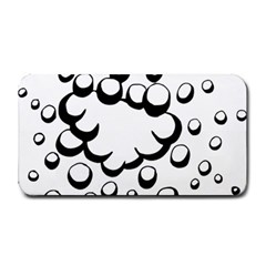 Splash Bubble Black White Polka Circle Medium Bar Mats by Mariart