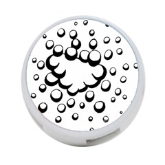 Splash Bubble Black White Polka Circle 4 Port Usb Hub (two Sides)  by Mariart