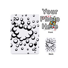 Splash Bubble Black White Polka Circle Playing Cards 54 (mini)  by Mariart