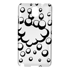 Splash Bubble Black White Polka Circle Samsung Galaxy Note 3 N9005 Hardshell Case by Mariart
