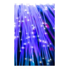 Neon Light Line Vertical Blue Shower Curtain 48  X 72  (small)  by Mariart