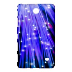 Neon Light Line Vertical Blue Samsung Galaxy Tab 4 (8 ) Hardshell Case  by Mariart
