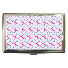Squiggle Red Blue Milk Glass Waves Chevron Wave Pink Cigarette Money Cases by Mariart