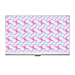 Squiggle Red Blue Milk Glass Waves Chevron Wave Pink Business Card Holders by Mariart