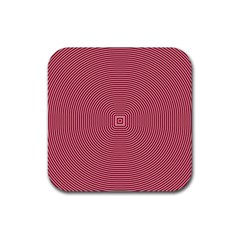 Stop Already Hipnotic Red Circle Rubber Square Coaster (4 Pack)  by Mariart